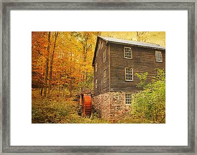 Autumn At Millbrook 4 - The Grist Mill Framed Print