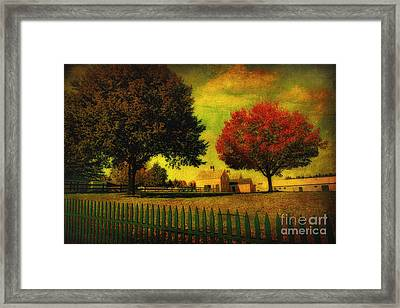 Framed Print featuring the photograph Autumn At The Farm by Gina Cormier