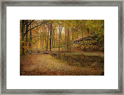 Autumn At Voorhees Framed Print