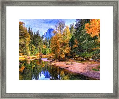 Autumn At Yosemite Framed Print by Dominic Piperata