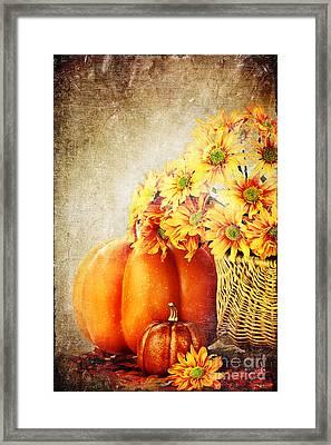 Autumn Background Framed Print