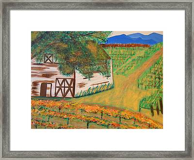 Autumn Barn Framed Print by Kathleen Fitzpatrick