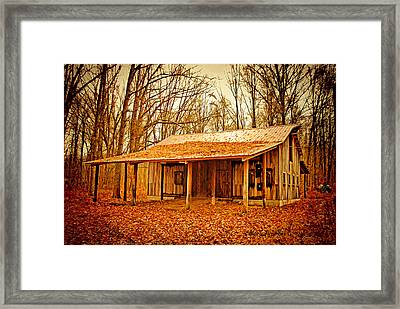 Framed Print featuring the photograph Autumn Barn by Mary Timman