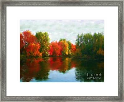 Autumn Blaze Framed Print by Earl Jackson