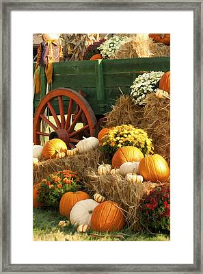 Autumn Bounty Vertical Framed Print by Kathy Clark