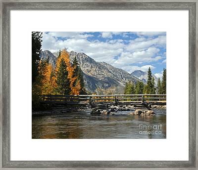 Autumn Bridges Grand Teton National Park Framed Print by Nature Scapes Fine Art