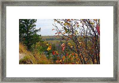 Autumn By The River Framed Print by Jim Sauchyn