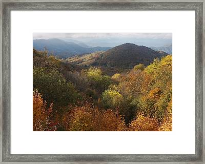 Autumn Color In The Roan Valley Framed Print