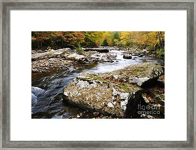 Autumn Cranberry River Framed Print by Thomas R Fletcher