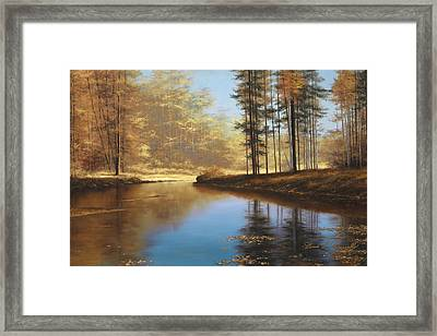 Autumn Creek Framed Print