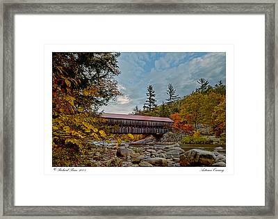 Framed Print featuring the photograph Autumn Crossing by Richard Bean