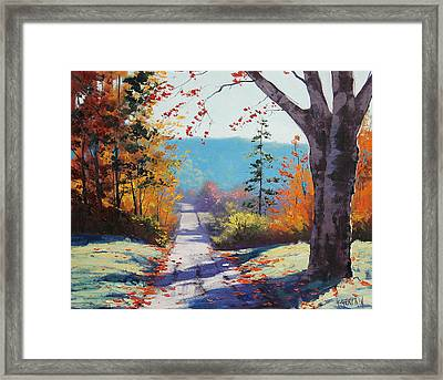 Autumn Delight Framed Print by Graham Gercken