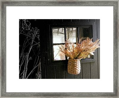 Autumn Door Framed Print by Lois Lepisto