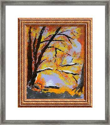 Autumn Dreaming  Framed Print by Warren Thompson
