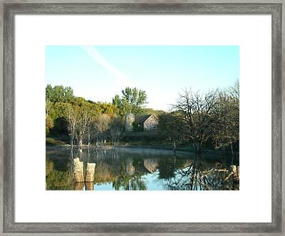 Autumn Farm At Dawn Framed Print by Brian  Maloney