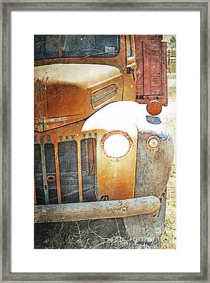 Autumn Farm Truck Framed Print