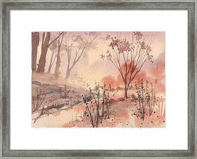 Autumn Fog Framed Print by Linda Eades Blackburn