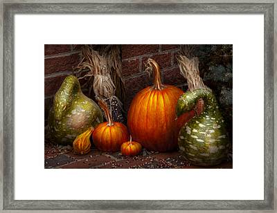 Autumn - Gourd - Family Get Together Framed Print by Mike Savad