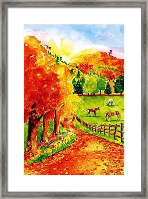 Autumn Graze Framed Print by Sloane FinneganAllen
