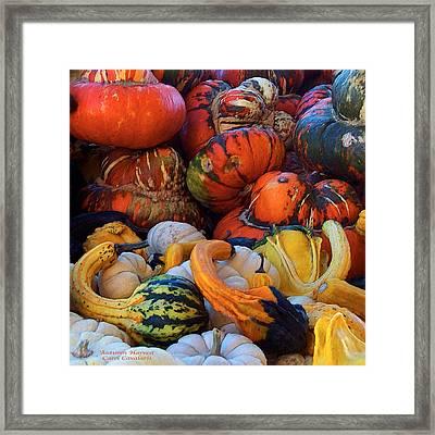 Autumn Harvest Framed Print by Carol Cavalaris