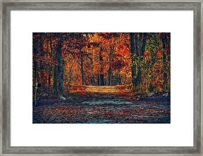 Autumn Has Arrived Framed Print by Bill Tiepelman