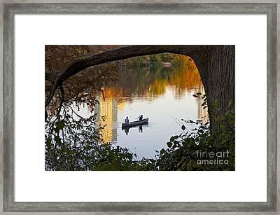 Autumn Idyll On Lake Austin Framed Print by Sean Griffin