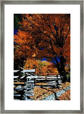 Autumn In Holderness Framed Print