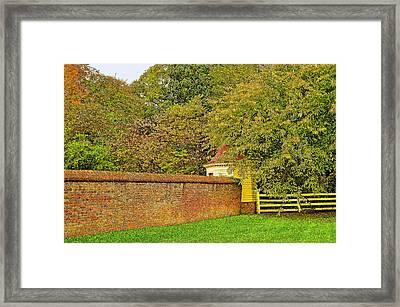 Autumn In Mount Vernon Virginia Framed Print by Eva Kaufman