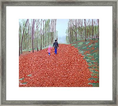 Autumn In Mullaghmeen Forest Framed Print