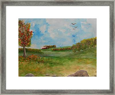 Autumn In New York Framed Print by Barbara McNeil