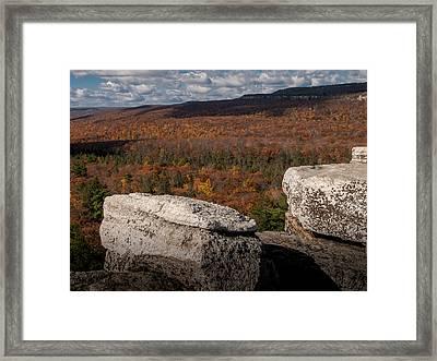 Autumn In The Gunks Framed Print by Jim DeLillo