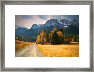 Autumn In The Rockies Framed Print by Tara Turner