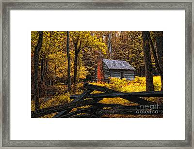 Autumn In The Smokies Framed Print by Gina Cormier
