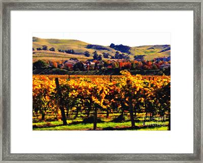 Autumn In The Valley 2 - Digital Painting Framed Print