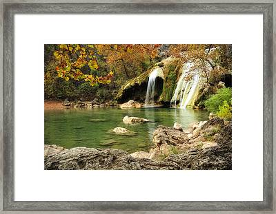 Autumn In Turner Falls Framed Print by Iris Greenwell