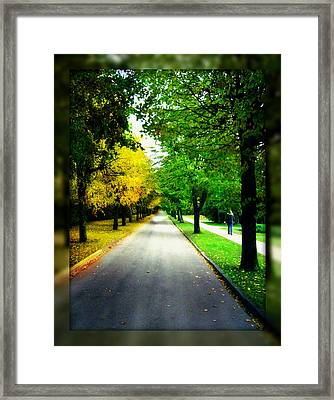 Autumn Is Comming Framed Print by German Savchishen