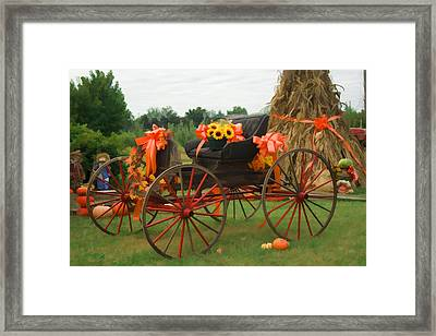 Autumn Joy Framed Print by Kathy Clark