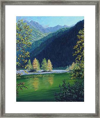 Autumn Knik River Framed Print by Kurt Jacobson