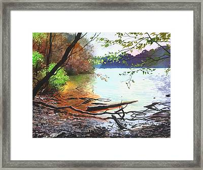 Autumn Lake Framed Print by Sergey Zhiboedov