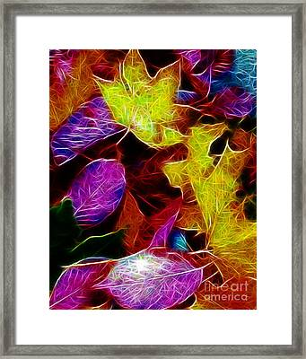 Autumn Leaves - Version 1 Framed Print by Wingsdomain Art and Photography