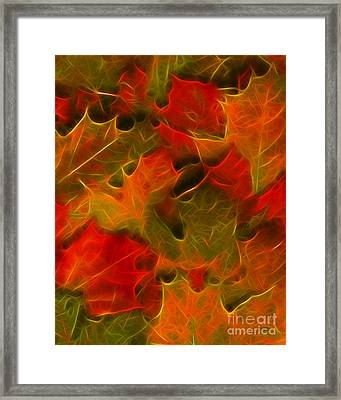 Autumn Leaves - Version 2 Framed Print by Wingsdomain Art and Photography