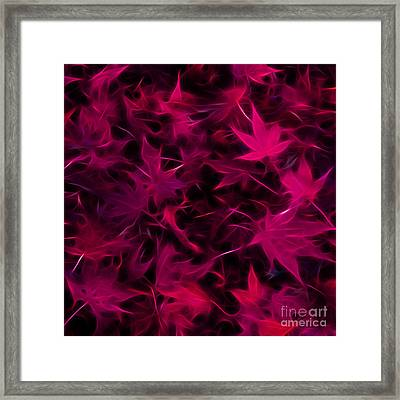 Autumn Leaves - Version 3 - Violet - Square Framed Print by Wingsdomain Art and Photography