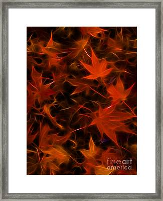 Autumn Leaves - Version 3 Framed Print by Wingsdomain Art and Photography