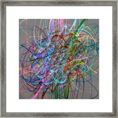 Autumn Likes Lines Framed Print by Michelle Calkins