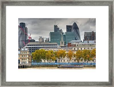 Autumn London Skyline Framed Print