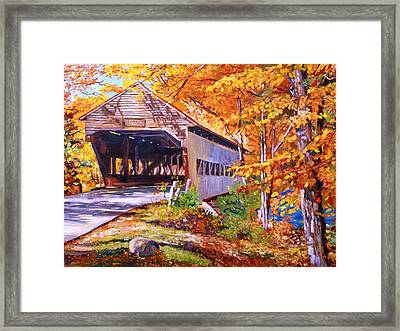 Autumn Love Story Framed Print