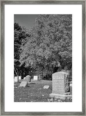 Autumn Memories Bw Framed Print