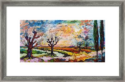 Autumn Migration Landscape  Framed Print by Ginette Callaway