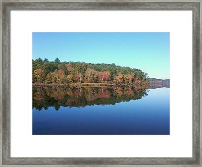 Framed Print featuring the photograph Autumn Mirror by Edwin Alverio