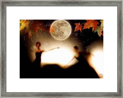 Autumn Moon Dance Framed Print